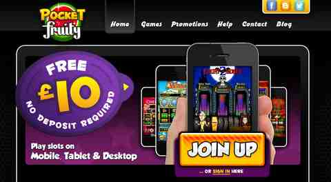 pocket fruity mobile casino bonus