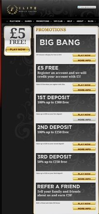 Deposit Now in Elite Online Casino