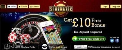 slotmatic phone slots casino bonus