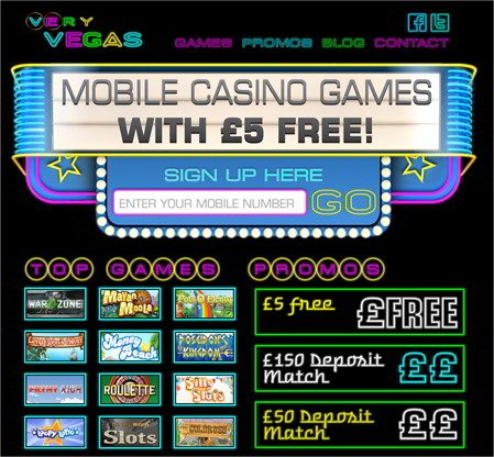 Very Vegas Mobile Casino Brings You the Best in Mobile Casino Games