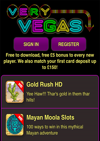 Some Thrilling and Fun Time Games at Very Vegas Mobile Casino