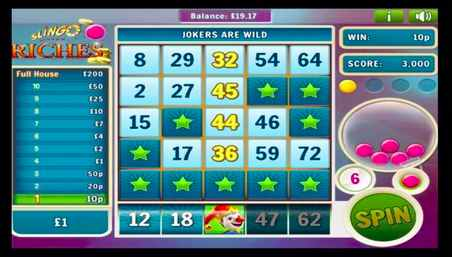 Slingo Riches Real Money Bonus