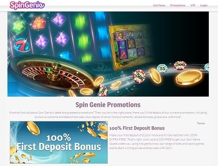 Promotions at Spin Genie