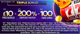 free bonus signup and deposit bonus