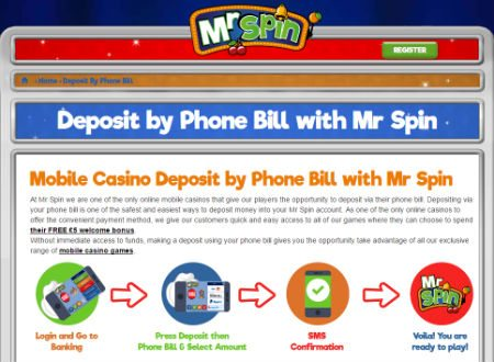 Mr Spin Casino Review Pay by Phone Bill