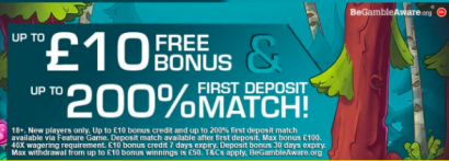 signup bonus free play