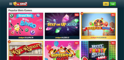 mr spin slots and casino games