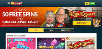 play instant win slots and table games