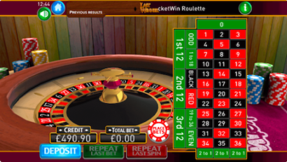 PocketWin Roulette Online