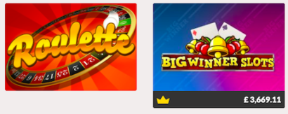 instant win slots and table games