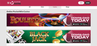 PocketWin Bonus Casino