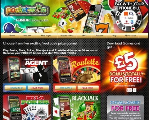 pocketwin best casino mobile phone games